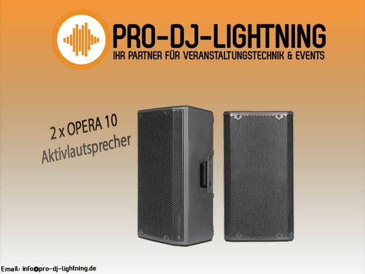 PA Anlage mieten OPERA 10 Aktivlautsprecher Box DJ dBTechnologies - Party, Events & Messen - Bild 1