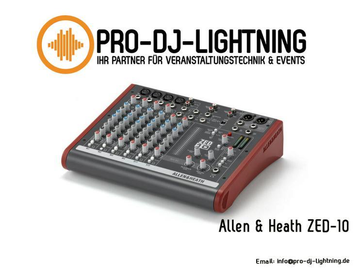 Allen & Heath ZED-10 und ZED-6 DJ Mischpult Mixer mieten - Party, Events & Messen - Bild 1