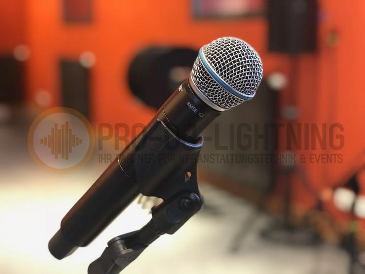 Verleih Gesangsmikrofon Shure SM58 QLXD24 - Funkmikro - Mikrofon mieten - Party, Events & Messen - Bild 1