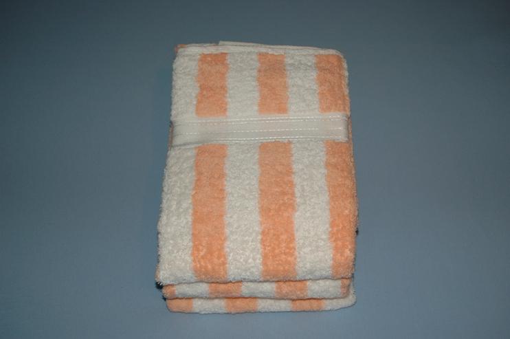 Duschtuch gestreift weiß-peach