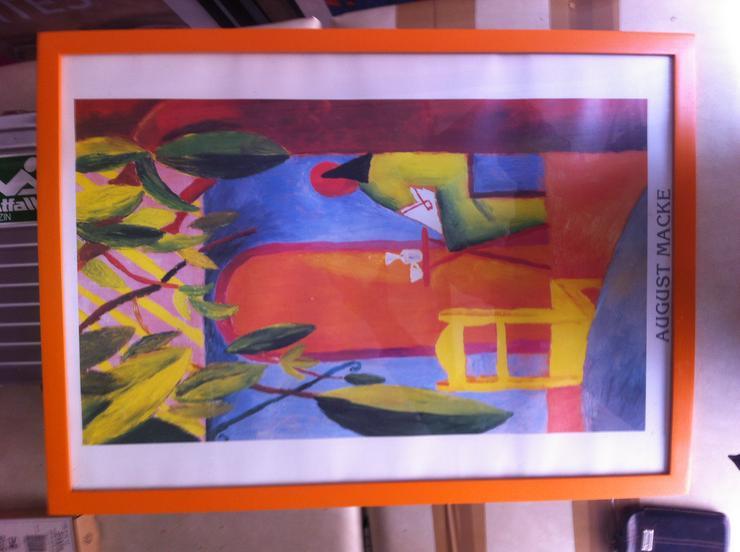 Bilderrahmen Holz orange