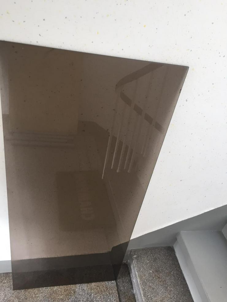 Braun getönte Glasplatte