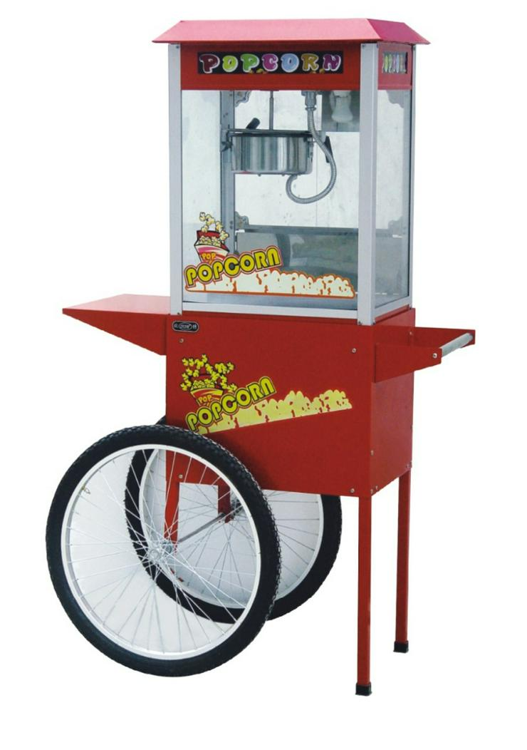 Popcorn Maschine mit Wagen - günstig mieten - perfekt für Hochzeiten, Party, Events und mehr