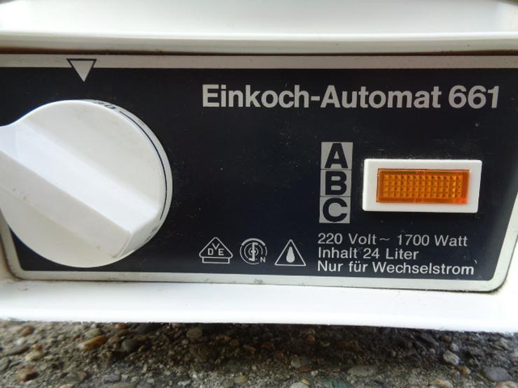 Bild 2: Einkoch - Automat ABC 1700 Watt 24l Einkochtopf