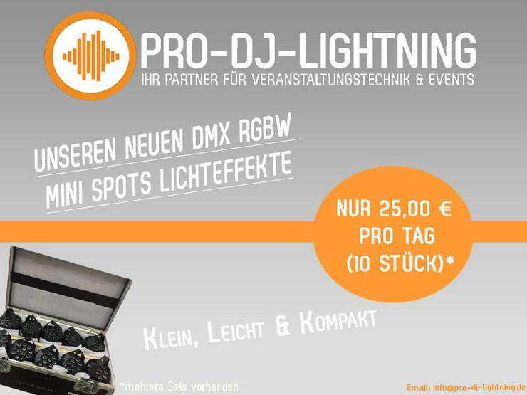 DMX RGBW Mini Spots Lichteffekt - Lightshow - DJ Licht