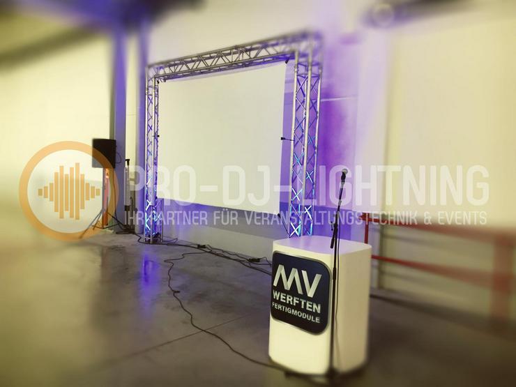 Verleih: Leinwand 2,2x2,2m Projektionswand Stativ Leinwand  - Party, Events & Messen - Bild 1