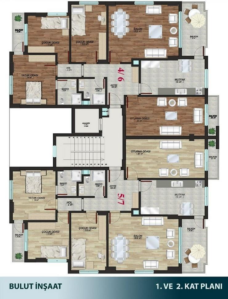 Bild 5: Türkei, Alanya, Budwig, große 5  Zimmer- Wohnung, zum kleinen Preis,276-4