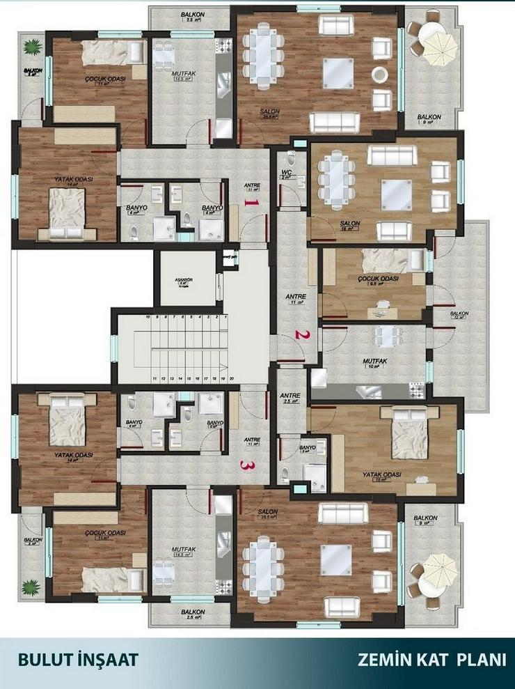 Bild 3: Türkei, Alanya, Budwig, große 5  Zimmer- Wohnung, zum kleinen Preis,276-4