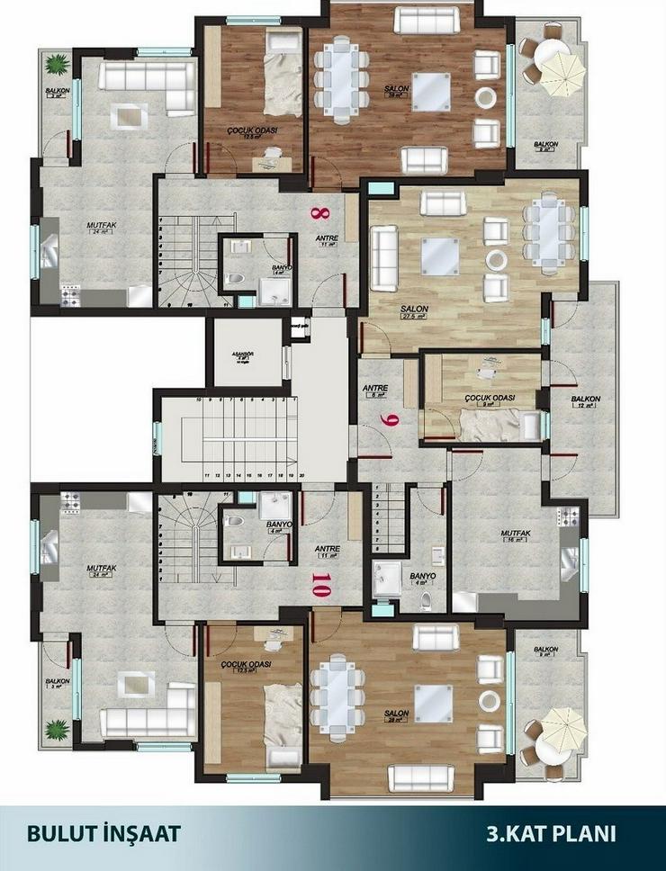Bild 3: Türkei, Alanya, Budwig, große 5  Zimmer- Duplex- Wohnung, zum kleinen Preis,276-9