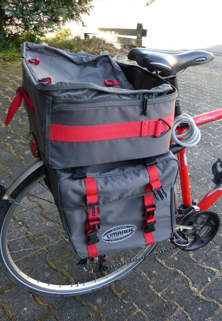 Fahrrad-Gepäckträger-Taschen Set 3-tlg.