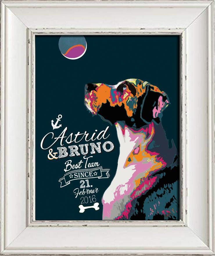 Tierische Liebe: Feiert eure gemeinsame Zeit mit einem Poster