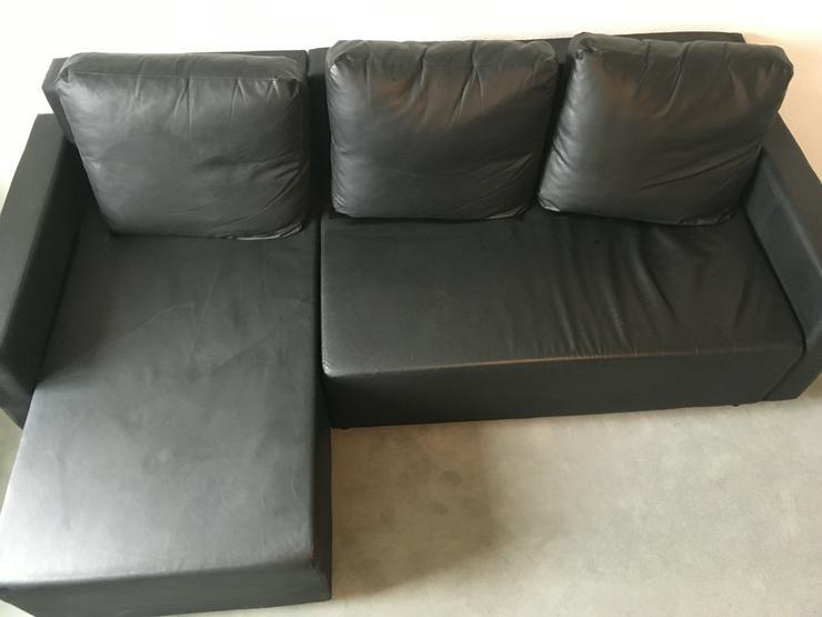 Bild 5: 3 Sitzer Lederimitat Couch