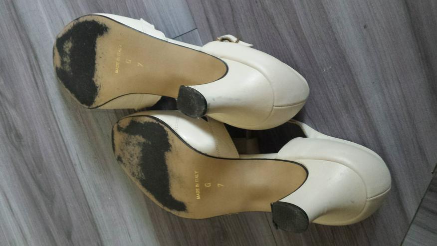 Bild 4: Sandalette in hellem Creme Größe 7 G