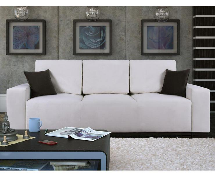 Sofa Couch Kissen mit Schlaffunktion Dreisitzer mit Stauraum Schlafcouch Verschiedene Farben