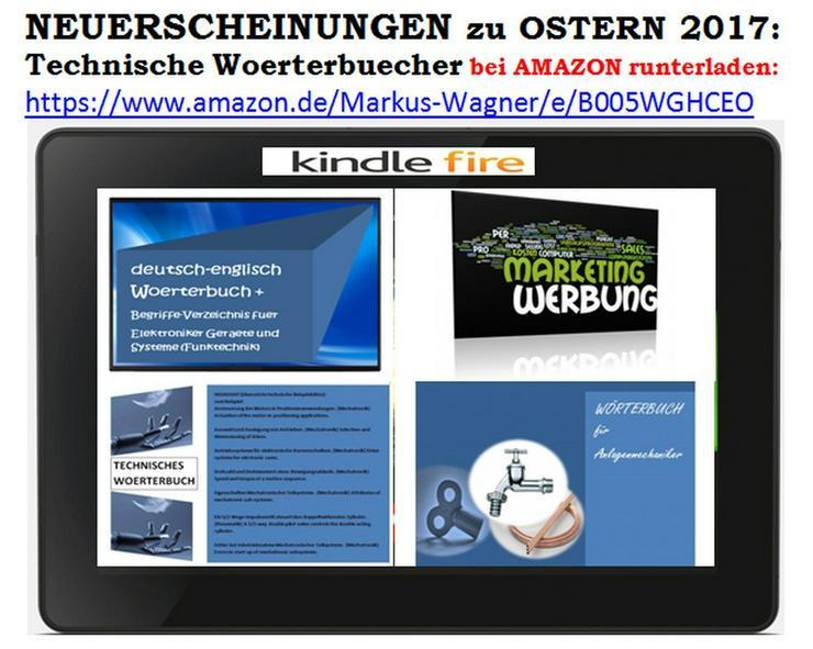 de-englisch Woerterbuch Marketing/ Werbung + Elektronik + Anlagenmechanik