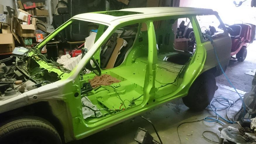 Bild 5: Opel Astra F Irmscher Projekt Aufgabe viele Teile