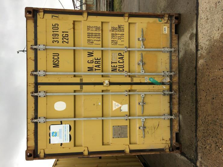 """20 DC' Container """"gebraucht"""" Farbe Gelb"""