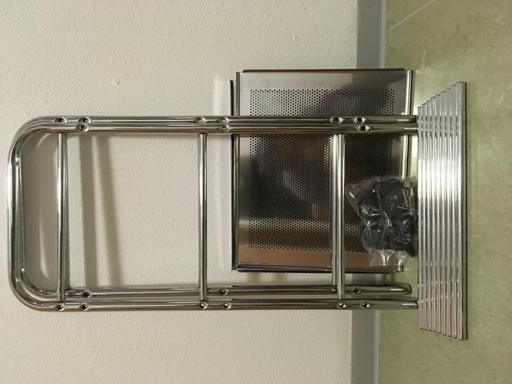 Bild 2: 3 Tier Chrome Wire Trolley