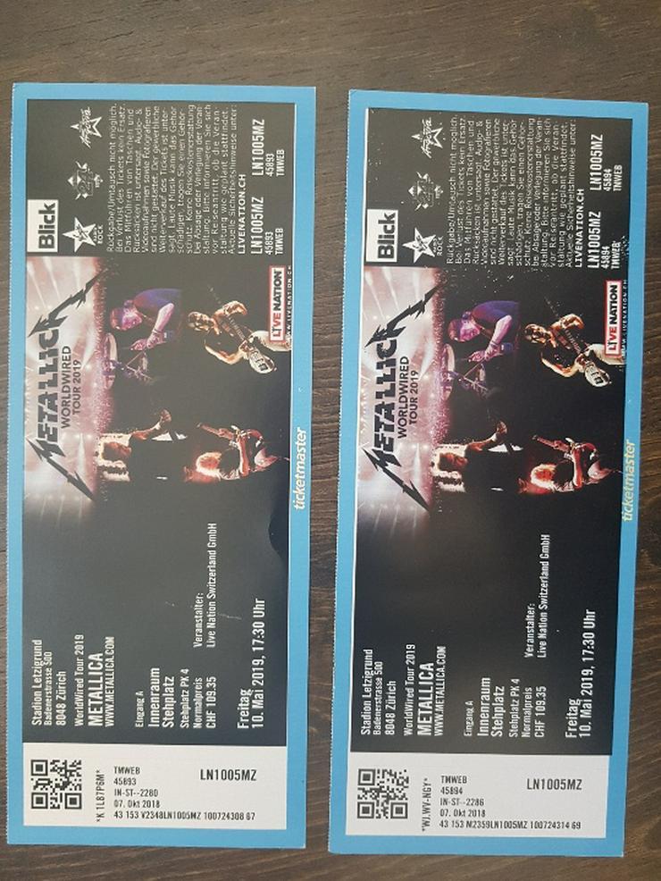 2x Metallica Tickets Zürich