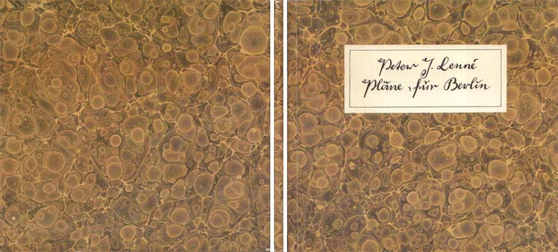 Bestandskatalog von Peter Joseph Lenné - Pläne für Berlin - 1989