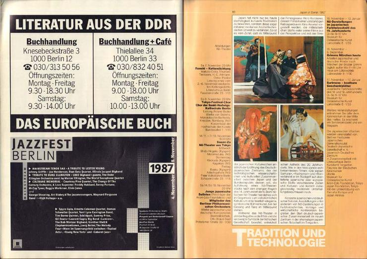 Bild 5: 37. Berliner Festwochen 1987 - September-November - Journal 3 / 750 Jahr Berlin