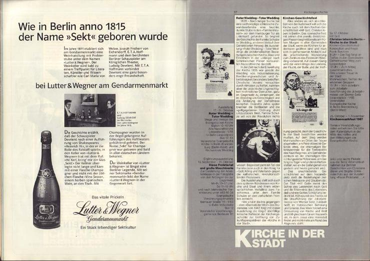 Bild 4: 37. Berliner Festwochen 1987 - September-November - Journal 3 / 750 Jahr Berlin