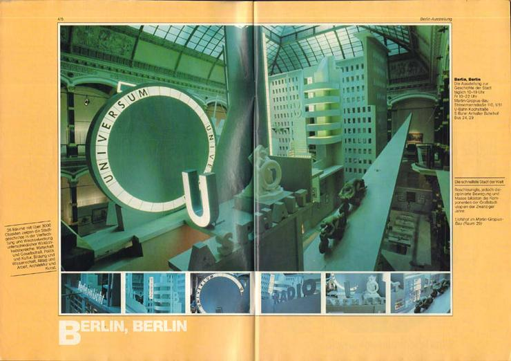 Bild 2: 37. Berliner Festwochen 1987 - September-November - Journal 3 / 750 Jahr Berlin