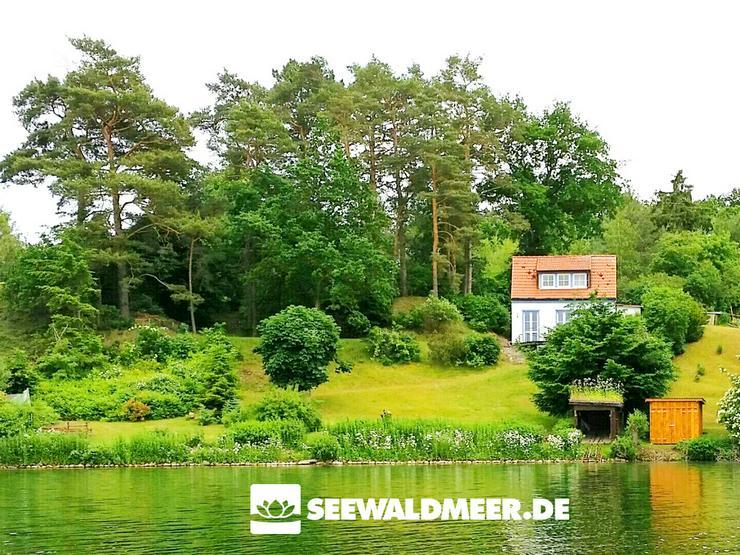 Ferienhaus SeeWaldMeer direkt am See mit Boot mieten Hütte am Wasser Urlaub Mecklenburgische Seenplatte Haus bei Schwerin Ostsee