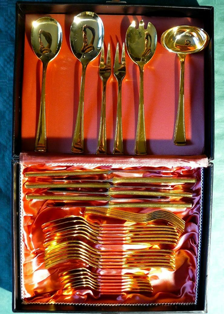 Besteck Essbesteck 36 Teile vergoldet (BE026)