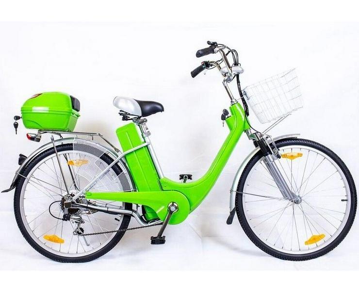 """Elektrofahrrad Fahrrad Grün Elektro Motor Pedelec 26"""" Akku 40kg"""