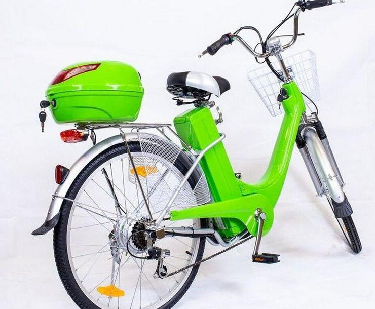 """Bild 2: Elektrofahrrad Fahrrad Grün Elektro Motor Pedelec 26"""" Akku 40kg"""