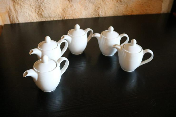 5 Stck. Milchkännchen, Porzellan, Kahla, weiß - Kaffeegeschirr & Teegeschirr - Bild 1