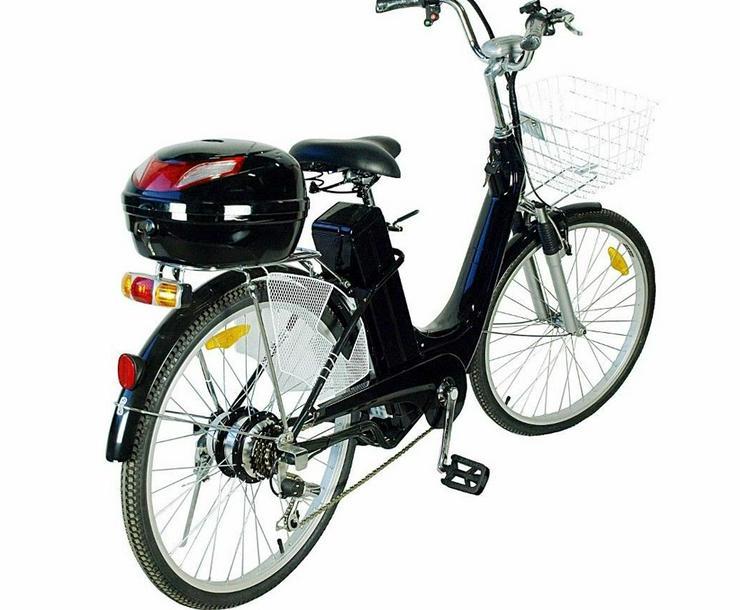 "Elektrofahrrad 118x116x63cm Schwarz Motor Pedelec 26"" Akku 250 W"