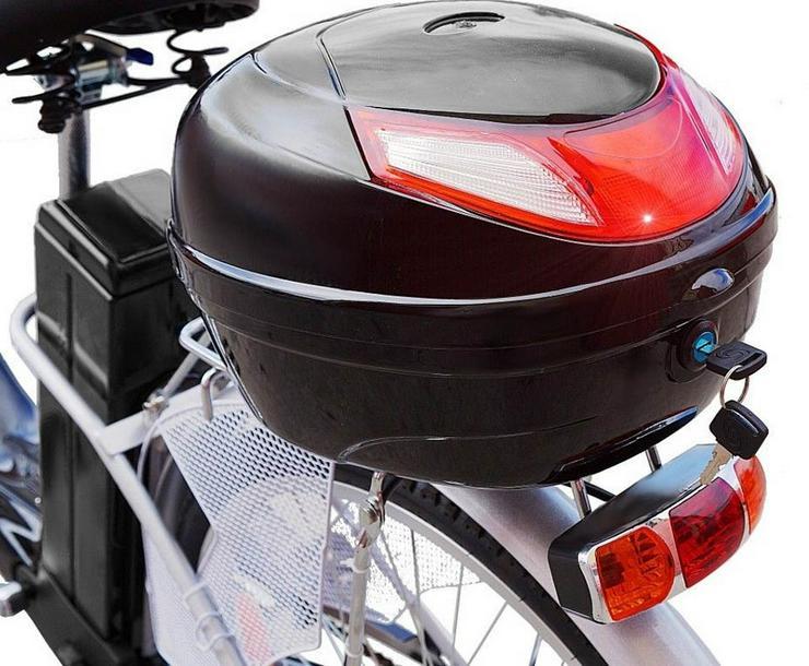 "Bild 2: Elektrofahrrad 118x116x63cm Schwarz Motor Pedelec 26"" Akku 250 W"