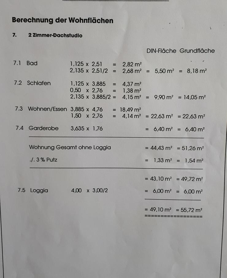 Bild 2: Helle 2 Zi.- DG-Wohnung mit großer Loggia - Provisionsfrei in 71717 Beilstein