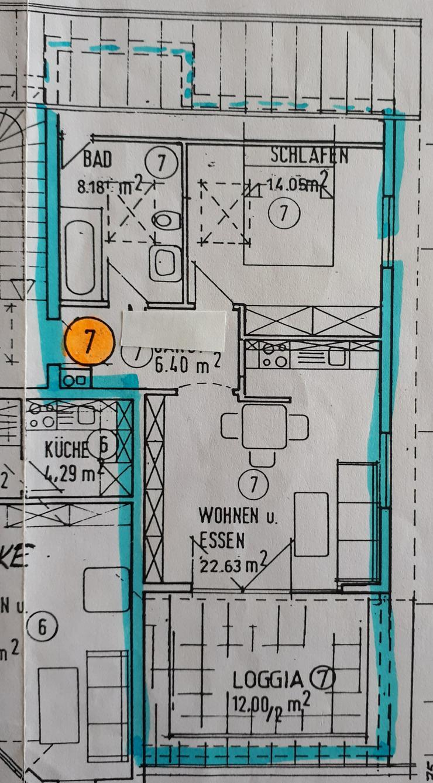 Helle 2 Zi.- DG-Wohnung mit großer Loggia - Provisionsfrei in 71717 Beilstein
