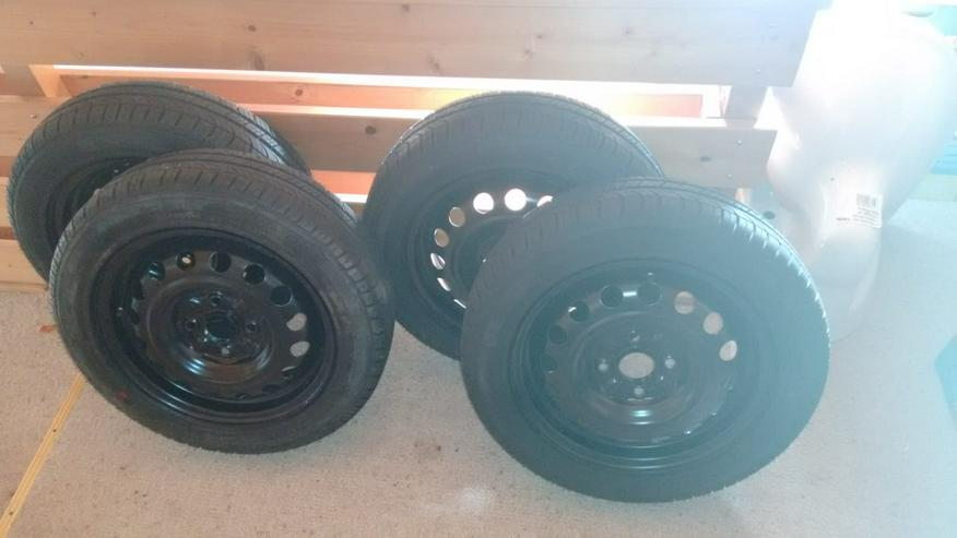 Sommerreifen NEU mit Stahlfelgen 155 / 65 R14 75 T, Michelin Citroen C1, Kompletträder mit Radkappen