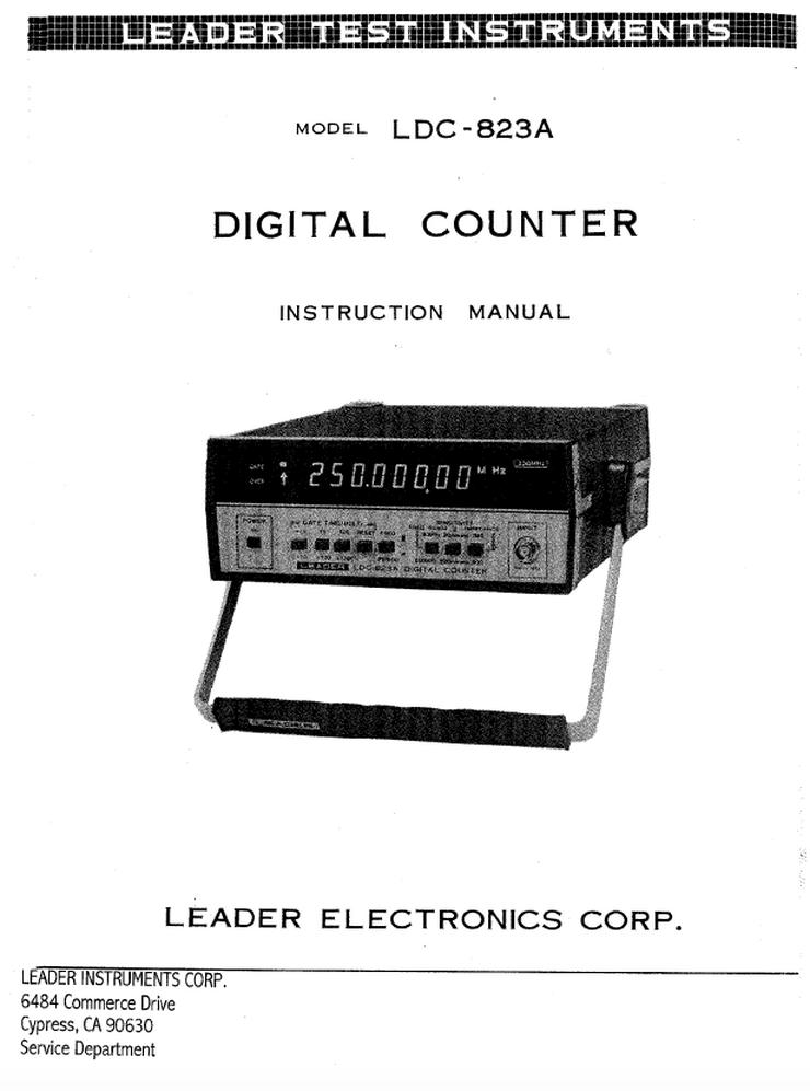 "Profi-Digital-Counter Leader ""LDC-823A"" bis 250 MHz aus Japan"