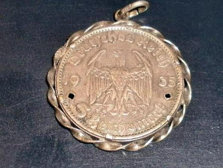 Bild 2: 5 Reichsmark RM 1935 G KETTENANHÄNGER 900/835 SILBER
