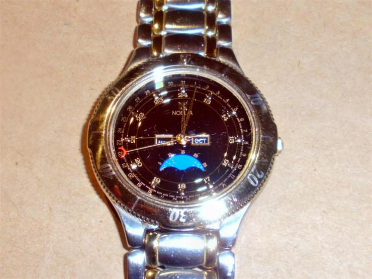ARMBANDUHR NOBLIA BY CITIZEN MODEL 6380 / 1999 EDELSTAHL / GOLD - Herren Armbanduhren - Bild 1