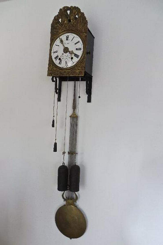 Kleine antike org. Französische Wanduhr (Comtoise) - Uhren - Bild 1