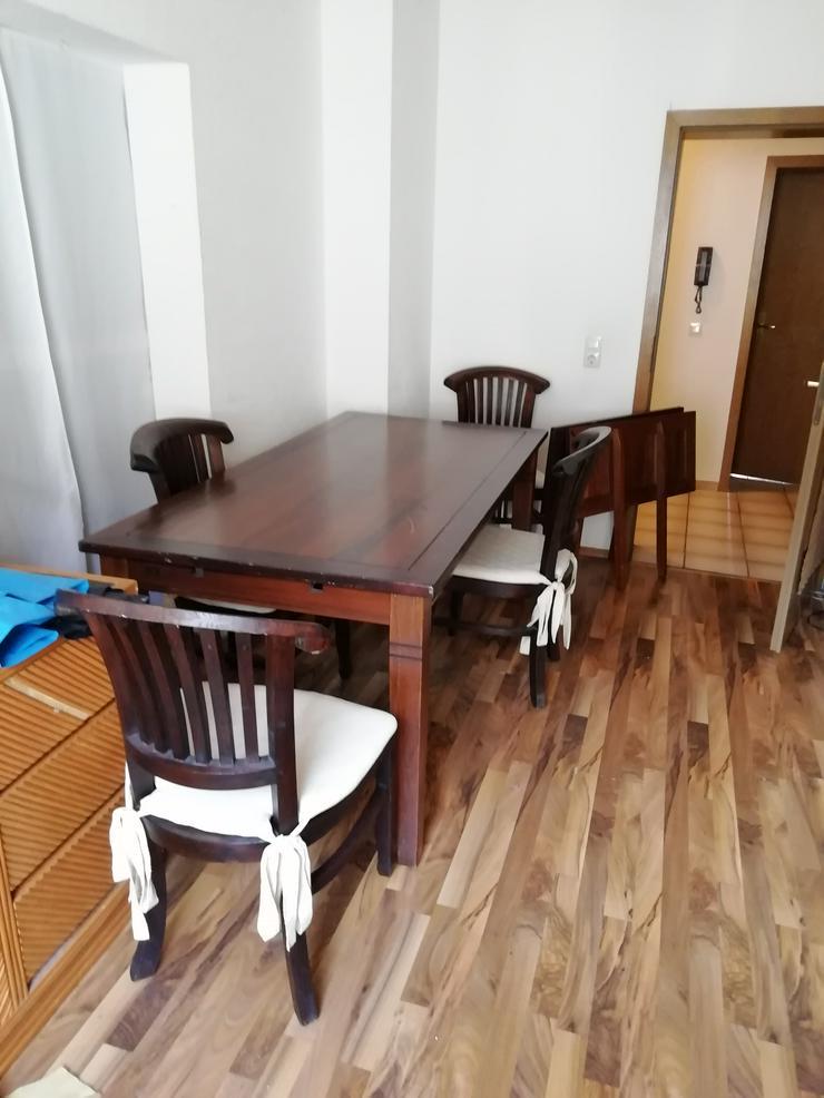Esstisch Massivholz Kolonialstil mit 8 schweren Stühlen - Esstische - Bild 1