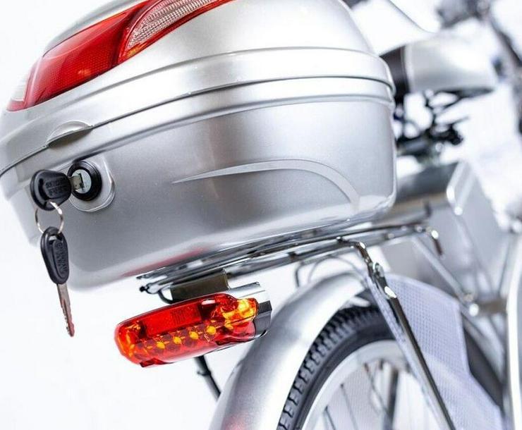 Bild 5: Elektrofahrrad E-Bike Motor 118x116x63cm Silber 2018 Neu