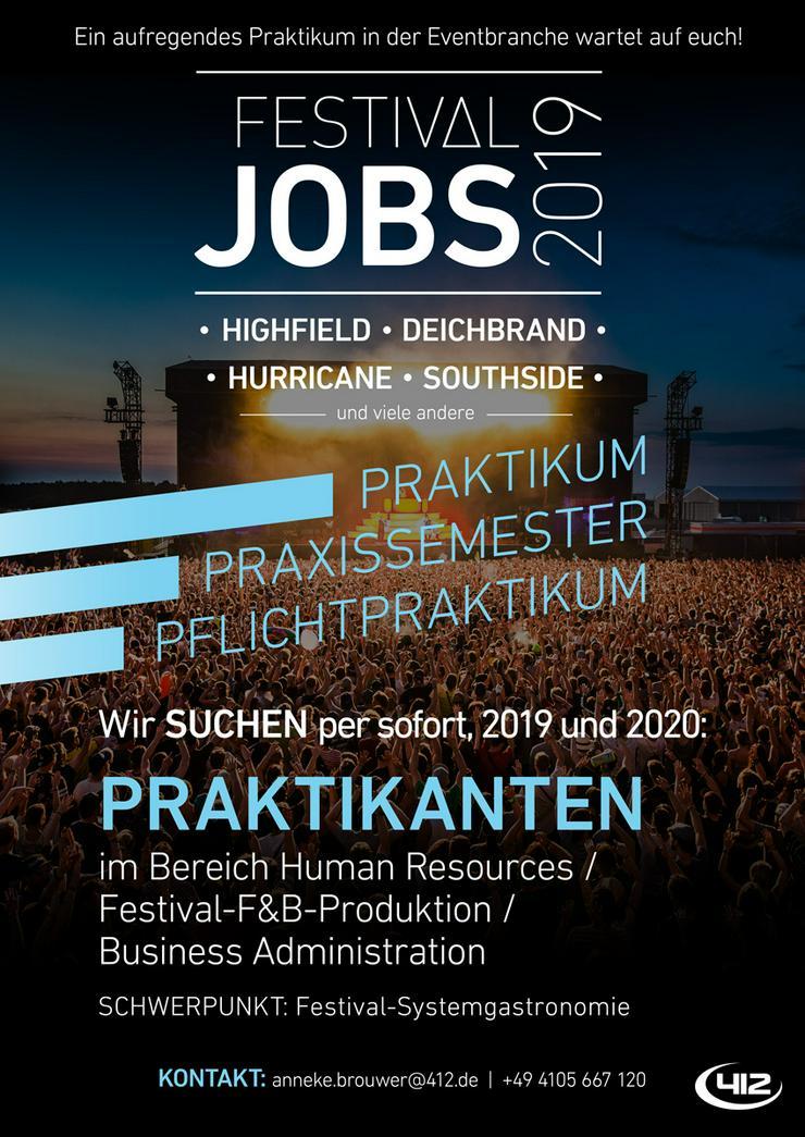 Praktikum in der Festival- und Konzert F&B-Produktion - Gastronomie & Tourismus - Bild 1