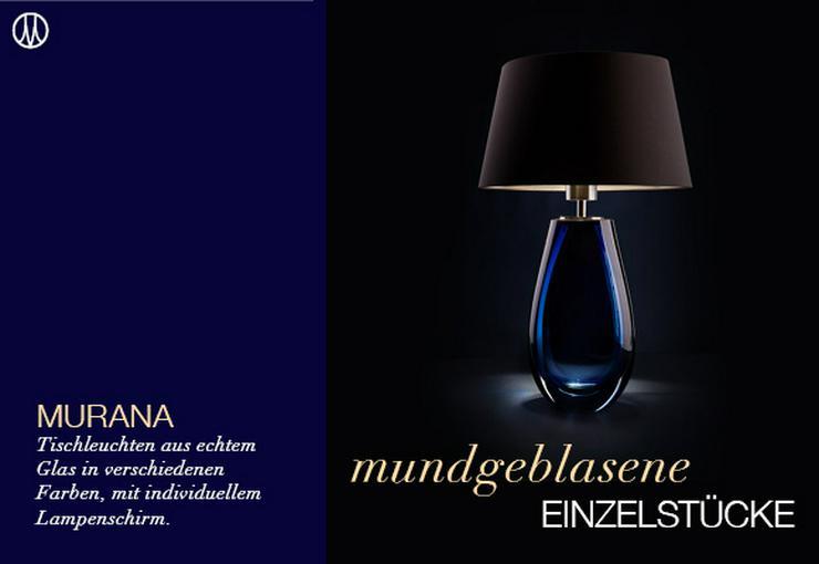 Bild 4: Individuelle Tischleuchten aus Murana-Glas in 2 Größen & 4 Farben