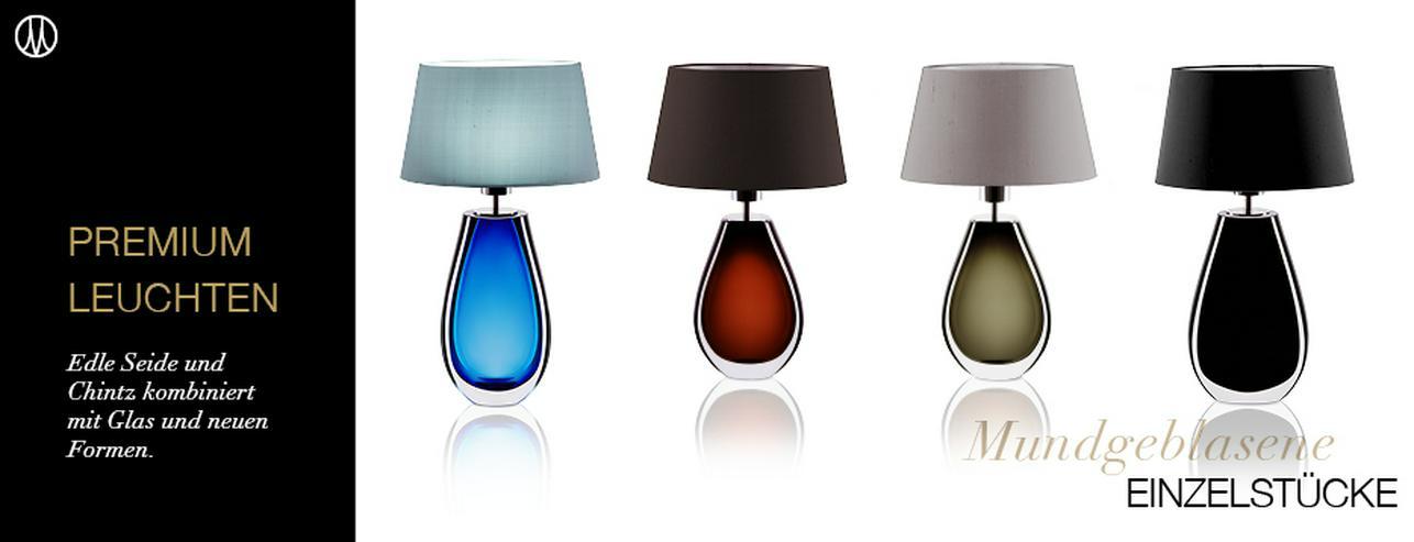 Bild 5: Individuelle Tischleuchten aus Murana-Glas in 2 Größen & 4 Farben
