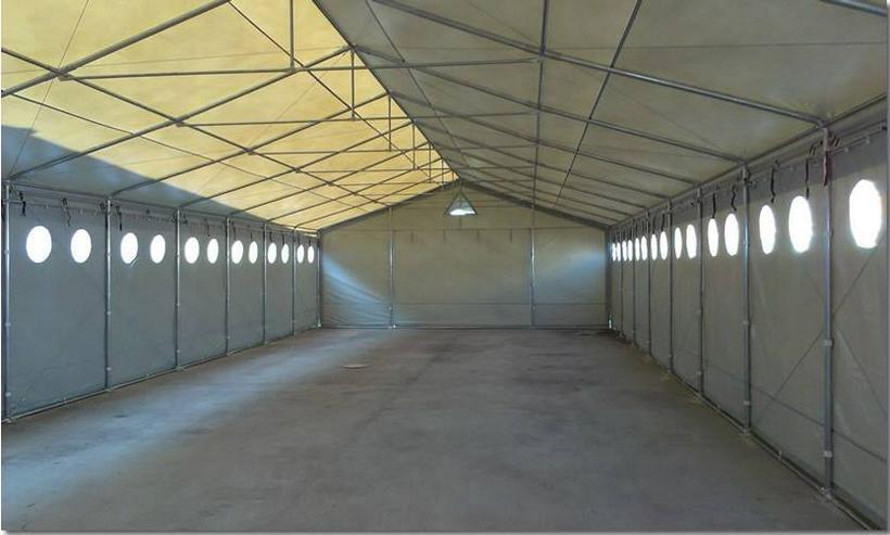 Lagerhalle 6x16x2,5m Industriehalle mit Beleuchtungsfenstern