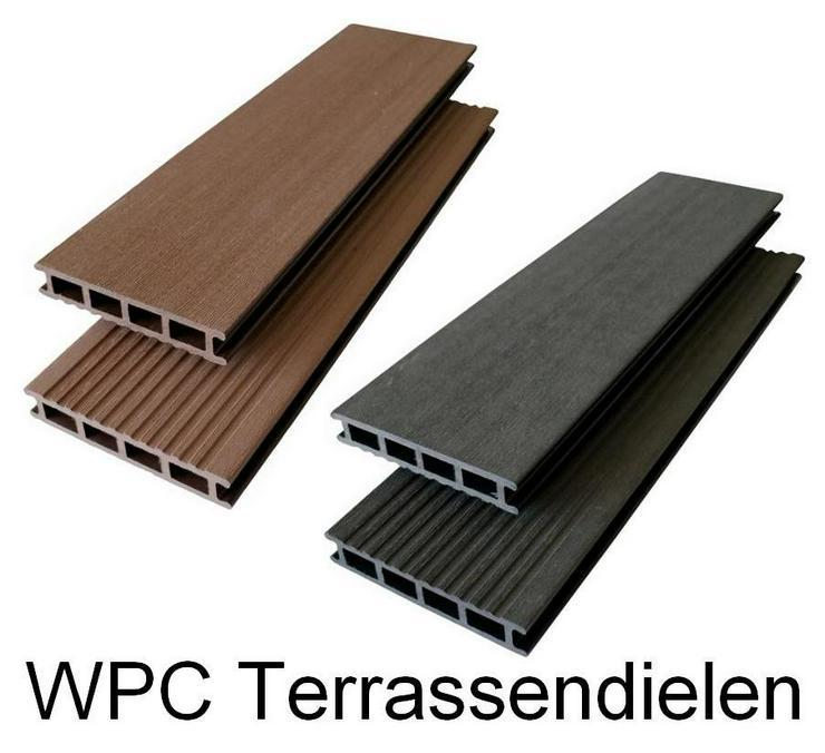 WPC Terrassendielen -  WPC Dielen - Massivdielen - Hohlkammerdielen auch als Paket mit Unterkonstruktion und Clips ab 5 m² bis 200 m²