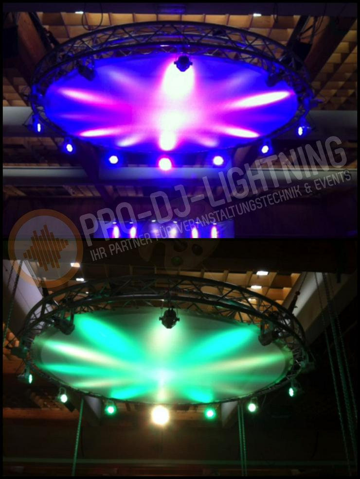 Verleih runde Gaze für Traversenkreis 4m (inkl. Beleuchtung) - Bühnenbau