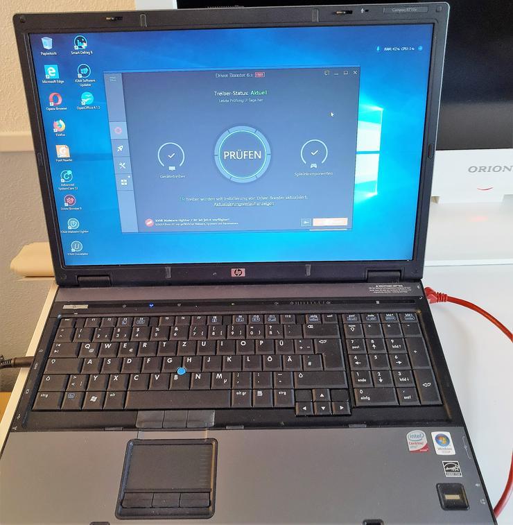 """17"""" Laptop HP Compaq 8710p Profi-Serie 4GB 2*2,4 GHz BT WLAN LAN"""